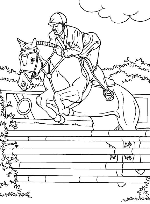Ecole les jeunes pousses le sport du cheval - Coloriage de chevaux a imprimer gratuit ...
