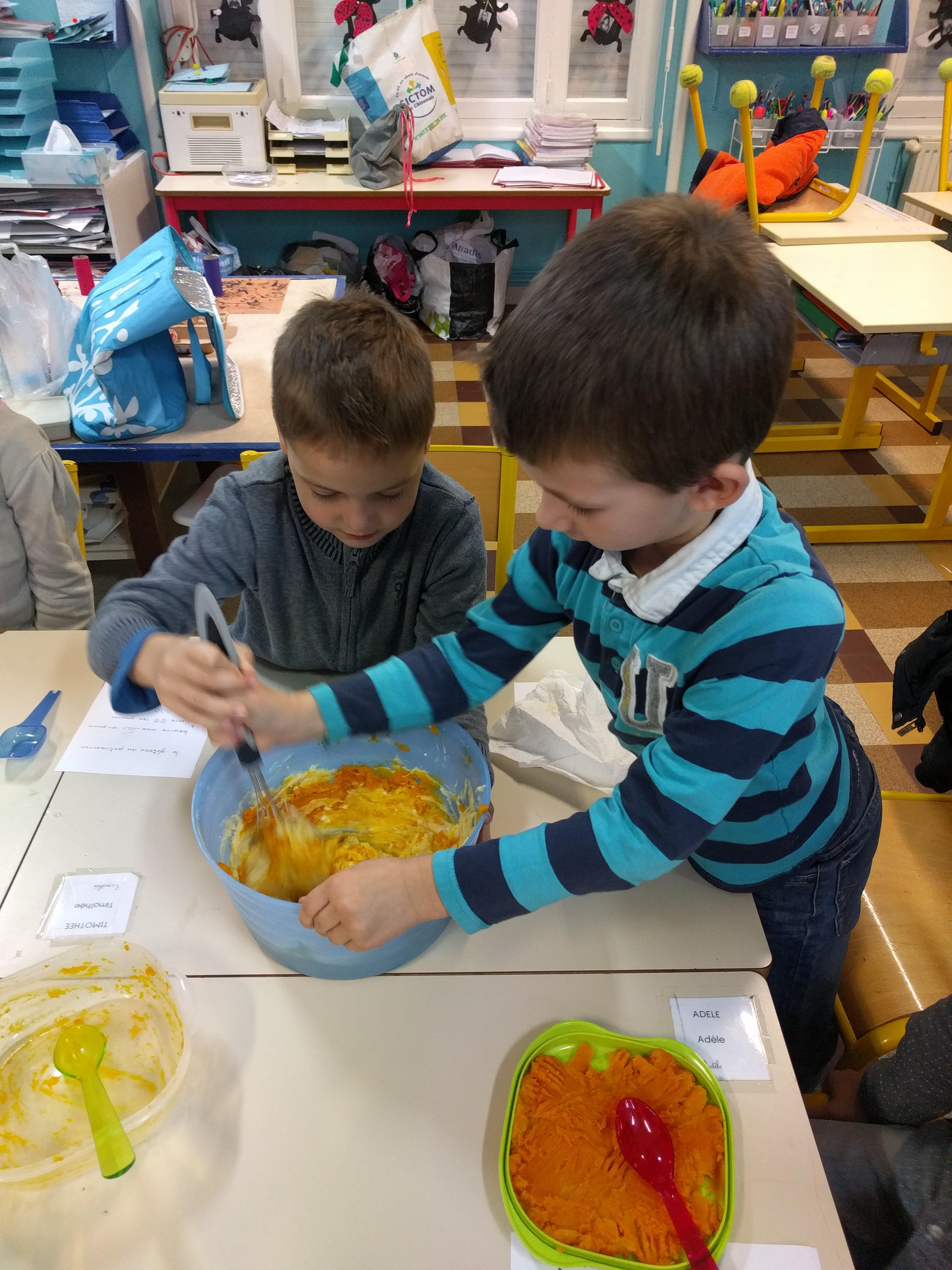 Ecole les jeunes pousses le 2 me groupe de cp en petits - Cuisiner les potimarrons ...